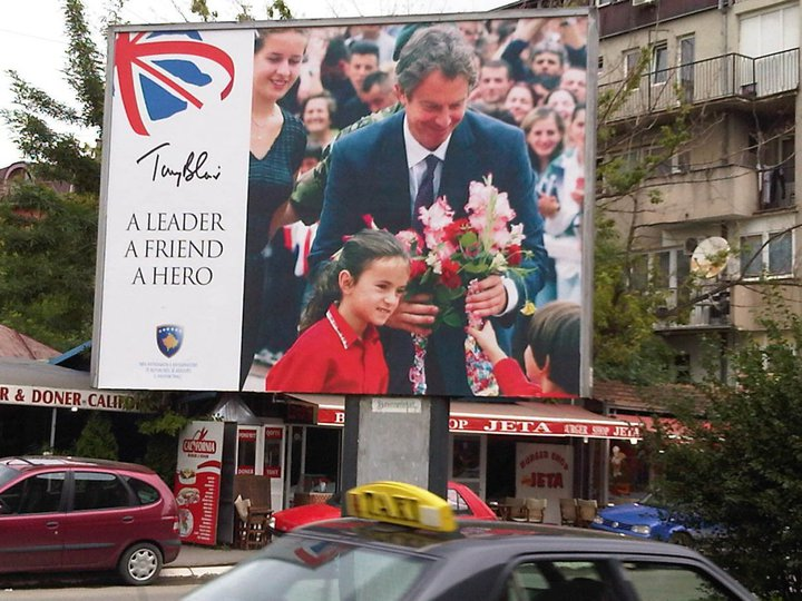 Golden Medal of Freedom for Tony Blair in British flagged Kosovo ...