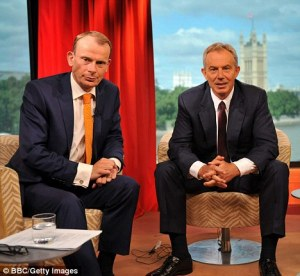 Andrew Marr will interview Tony Blair at 7:00pm, Wednesday 1st September 2010