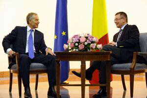 Tony Blair meets Romanian Prime Minister Ungureanu, 26th March 2012