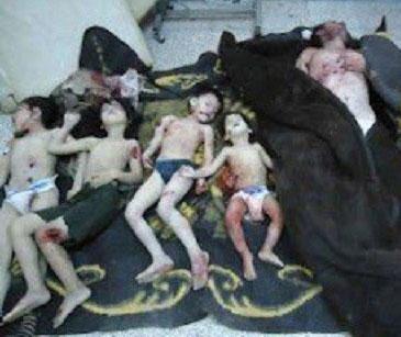 Family killed in al-Bashar's Syria.
