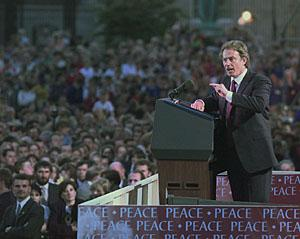 Tony Blair in Armagh, Northern Ireland,1998.