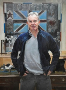 Tony Blair Portrait ny Alastair Adams